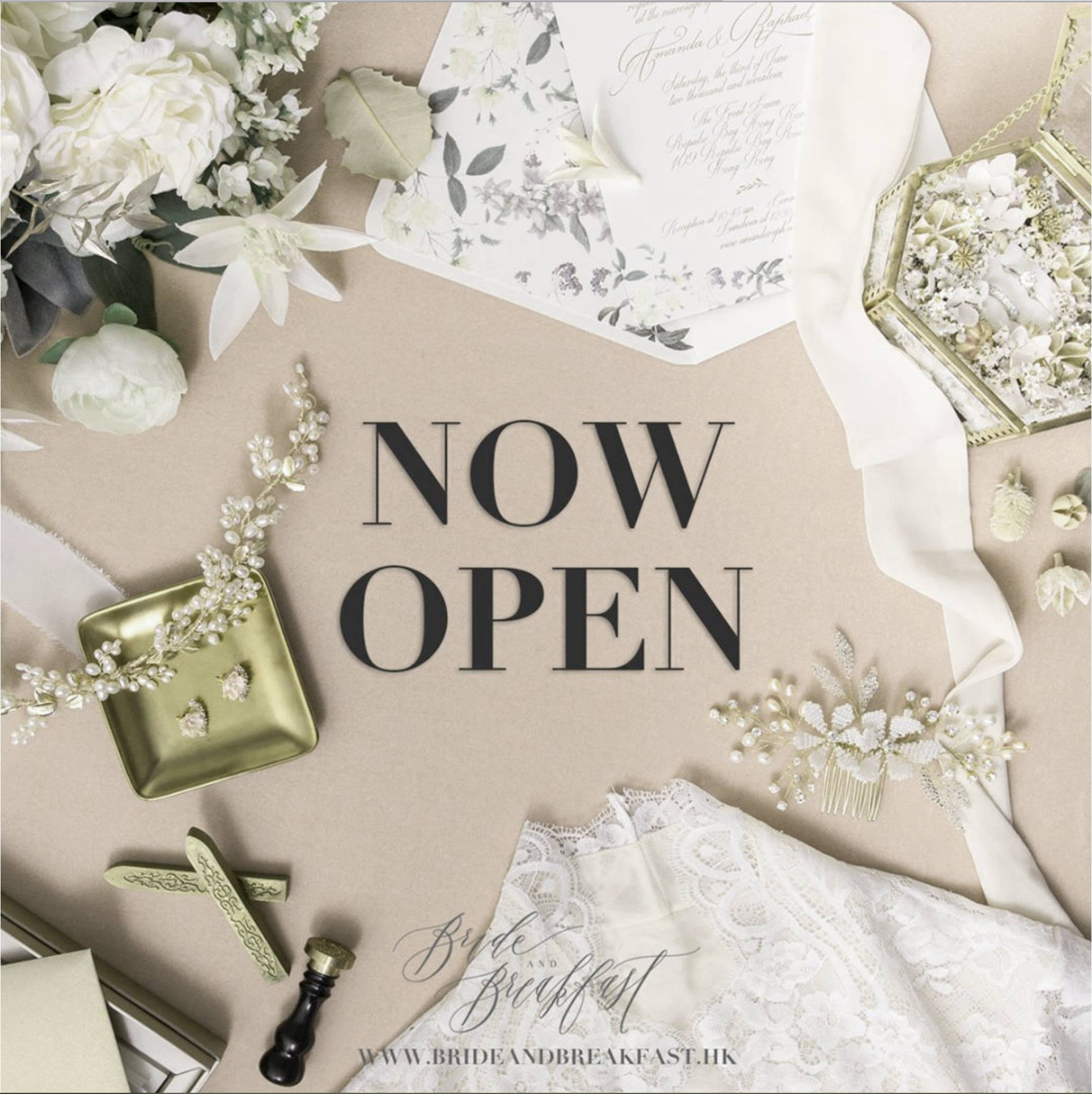 Now Open! Our Products are now available at Bride and Breakfast Hong Kong online shop