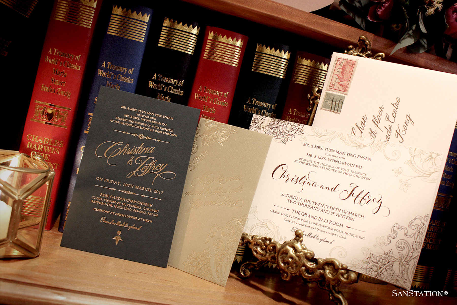 Old library themed wedding | Christina & Jeffrey